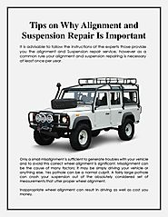 Tips on Why Alignment and Suspension Repair Is Important