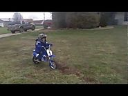 My son, his Razor MX350 electric dirt bike, safety and fun riding