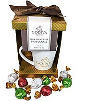 Godiva Chocolate Lovers Gift Mug ~ Includes Godiva Hot Cocoa, Mug and Assorted Godiva Truffles