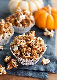 Pumpkin Spiced Caramel Corn - Snack Recipes from The Kitchn