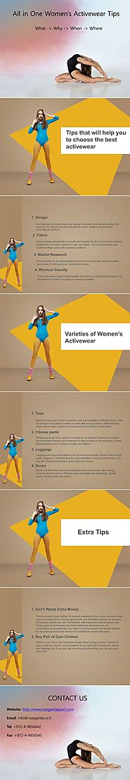 All in One Women's Activewear Tips