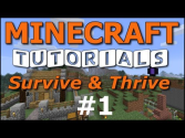 Minecraft Tutorials - E01 How to Survive your First Night (UPDATED!)