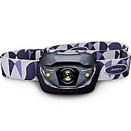 #1 Best Led Headlamp Flashlight - Ultra Bright with 5 Modes - 90 Lumens Professional Headlight For Hunting, Running, ...