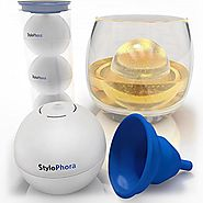 Ice Ball Mold by StyloPhora - 3 Pack with Funnel