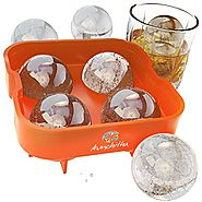 Aunchitha Ice Ball Maker - Mold Makes 4 X 4.5 cm Ice Spheres