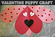 Cute Dog Valentines Day Craft For Kids - Crafty Morning