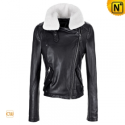 Women Cropped Leather Motorcycle Jacket CW608323 - cwmalls.com