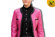 Cropped Quilted Leather Jacket CW610025 - cwmalls.com