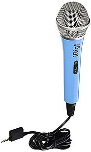 IK Multimedia iRig Voice (blue) karaoke microphone for smartphones and tablets