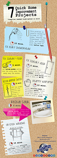 7 Quick Home Improvement Projects [Infographic]