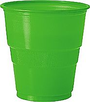Lime Green Plastic Cups