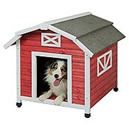 Precision Pet Old Red Barn Dog House for Dogs 50-70lbs