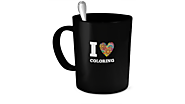 I Love Coloring Mug with FREE shipping for limited time!