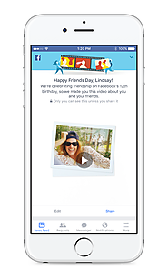 Facebook celebrates its anniversary by making automatic videos of your friendships