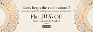 Get flat 10% Off in Wedding Invitations in season of giving!