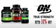 Gain Weight & Build Muscles with Optimum Nutrition (ON) Bodybuilding Supplements