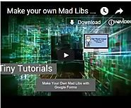 Make your own Mad Libs with Google Forms - The Techy Coach Blog