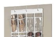 Clear Over-the-Door Shoe Organizers