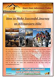 You Can Succeed on Your Kilimanjaro Hike