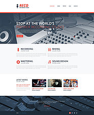 Recording Studio Responsive Website Template #48733