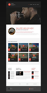 Singer Website Template