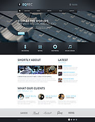 Recording Studio Responsive Website Template #46182
