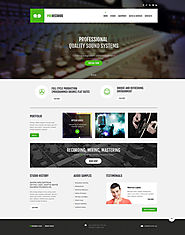 Recording Studio Responsive Website Template #47897