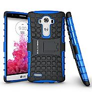 LG G4 Case, BUDDIBOX [Wave] Slim Rugged Durable Protective Case with Kickstand for LG G4, (Blue)