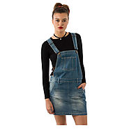 Buy USKEES CLAIRE Short Denim Dungaree @ £29.99 UK