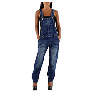 Buy Womens Indigo Denim Dungarees @ Best Price £39.99