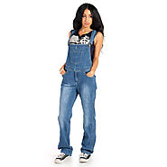 Buy Womens Fashion Blue Denim Dungaree @ Price £39.99