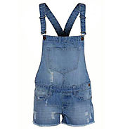 Buy Womens Summer Denim Dungaree Shorts @ Best Price
