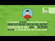 Tax deductions on donations to various charitable institutions