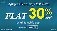 Agriya Declares February Flash Sale, Get a Flat 30% off on its Mobile App Scripts