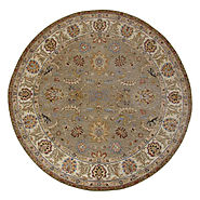 Hand Knotted Round Rugs & Octagon Rugs - 19590 - SULTAN - Oriental Designer Rugs