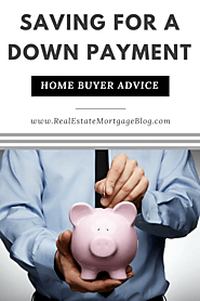 Saving Money For A Down Payment To Buy A House