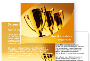 Winner Goblets PowerPoint Template