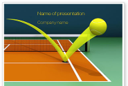 Tennis Ball Trajectory PowerPoint Template