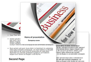 Business Newspaper PowerPoint Template