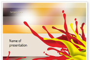 Red and Yellow Splash Paint PowerPoint Template
