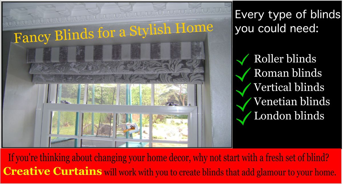 Headline for Made to measure Blinds in Essex, Hertfordshire - Creative Curtains