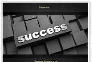 Success Tittle on a Block PowerPoint Template