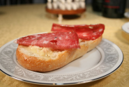 Italian Genoa Salami Sandwich with Red Hawk Cheese and Tuscan Bean Paste | Amazing Sandwiches