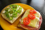 Chicken and Salami Sandwich with Sliced Jalapeno Peppers Recipe from Jalapeno Madness