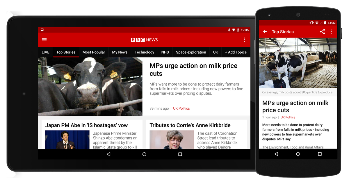 Headline for Top 5 News Apps For Your Phone