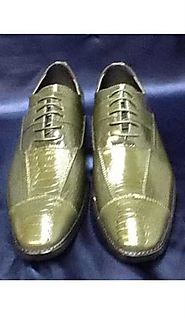 Ritzy Green Mens Dress Shoes