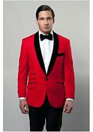 Fashionable Red Suit And Jacket For Mens
