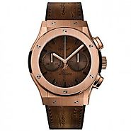 Luxury Replica Hublot Classic Fusion Chronograph Berluti Scritto King Gold Watch 521.OX.0500.VR.BER17 For Sale