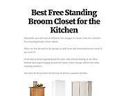 Best Free Standing Broom Closet for the Kitchen