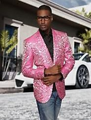 Mens Pink Floral Blazer -For An Adorable Look